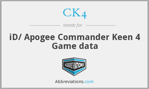 What does CK4 stand for?