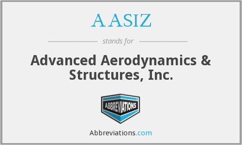 AASIZ - Advanced Aerodynamics & Structures, Inc.