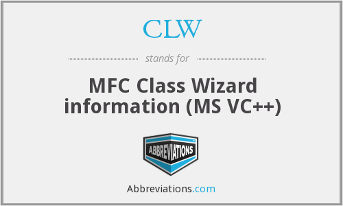 CLW - MFC Class Wizard information (MS VC++)