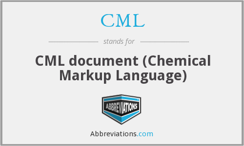 CML - CML document (Chemical Markup Language)