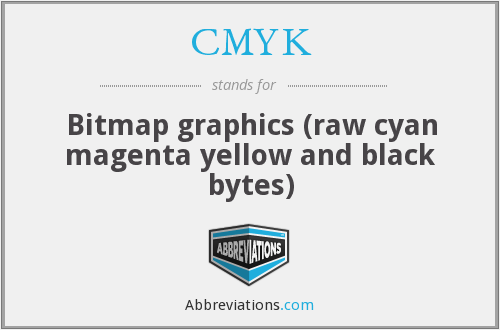 CMYK - Bitmap graphics (raw cyan magenta yellow and black bytes)