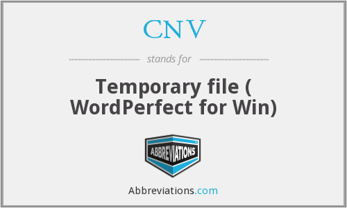 CNV - Temporary file ( WordPerfect for Win)