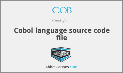 COB - Cobol language source code file