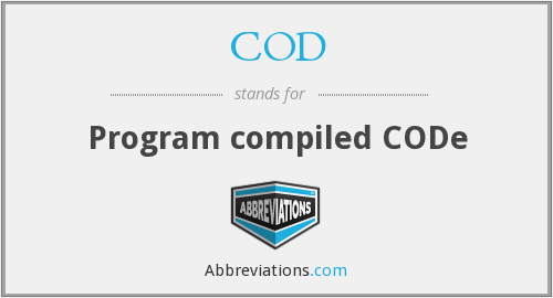 COD - Program compiled CODe