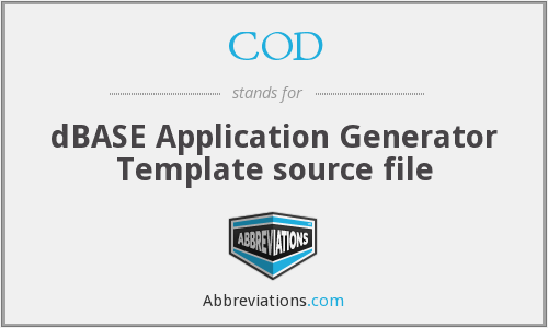 COD - Template source file (dBASE Application Generator)
