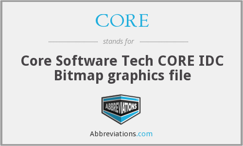 CORE - Bitmap graphics (Core Software Tech CORE IDC file)