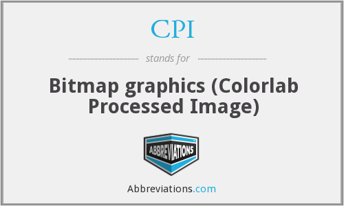 CPI - Bitmap graphics (Colorlab Processed Image)