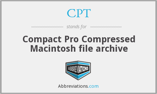 CPT - Compact Pro Compressed Macintosh file archive