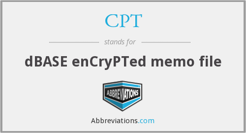 CPT - dBASE enCryPTed memo file