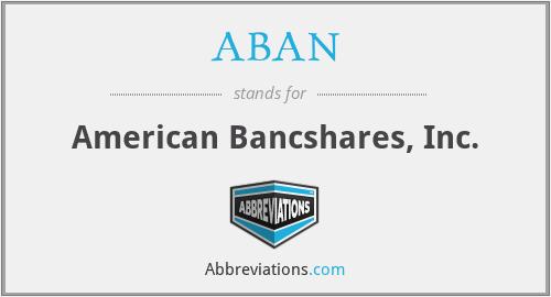 ABAN - American Bancshares, Inc.
