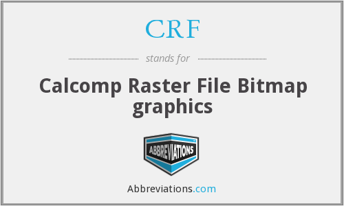 CRF - Calcomp Raster File Bitmap graphics