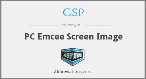CSP - PC Emcee Screen Image