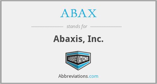 ABAX - Abaxis, Inc.