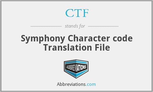 CTF - Symphony Character code Translation File