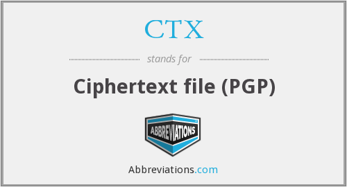 CTX - Ciphertext file (PGP)