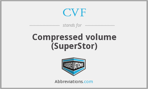 CVF - Compressed volume (SuperStor)