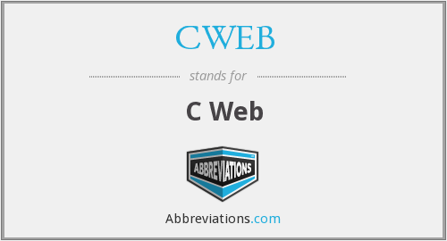 What does CWEB stand for?
