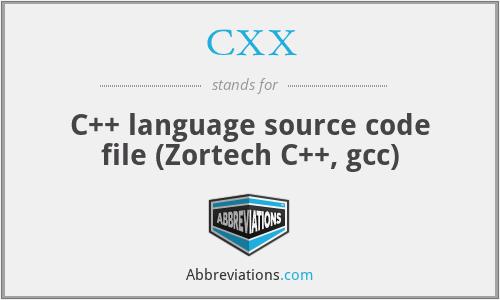 CXX - C++ language source code file (Zortech C++, gcc)