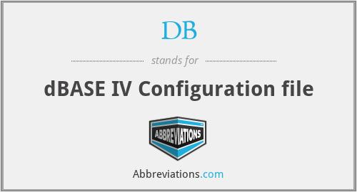 DB - dBASE IV Configuration file
