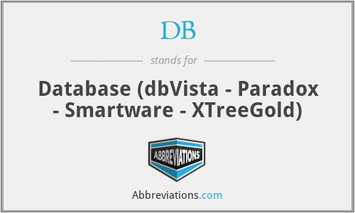 DB - Database (dbVista - Paradox - Smartware - XTreeGold)