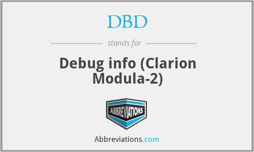 DBD - Debug info (Clarion Modula-2)