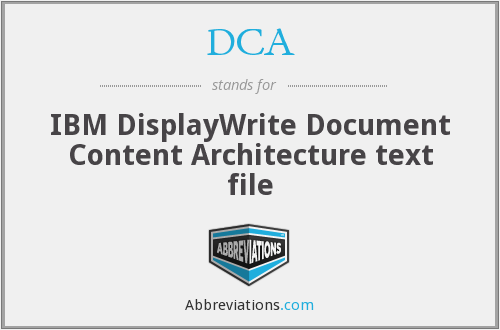 DCA - IBM DisplayWrite Document Content Architecture text file
