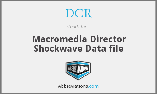 DCR - Macromedia Director Shockwave Data file