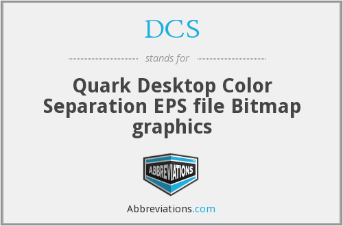 DCS - Quark Desktop Color Separation EPS file Bitmap graphics