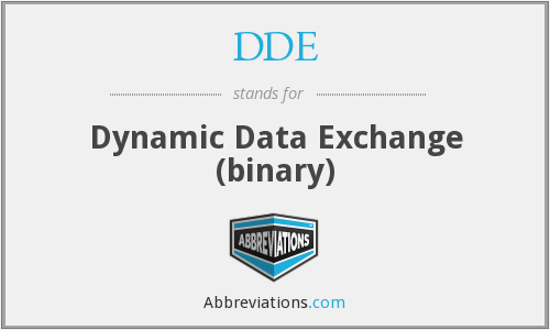 DDE - Dynamic Data Exchange (binary)