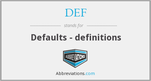 What does definitions stand for?