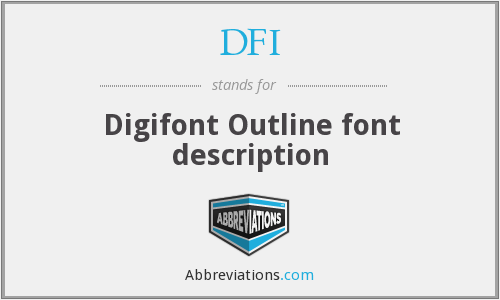 DFI - Digifont Outline font description