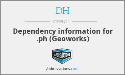 DH - Dependency information for .ph (Geoworks)