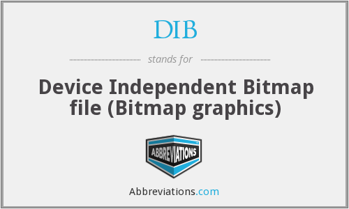 DIB - Device Independent Bitmap file (Bitmap graphics)