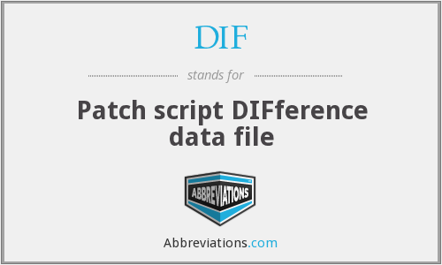 DIF - Patch script DIFference data file