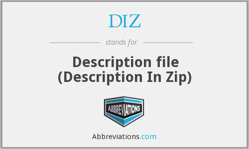 DIZ - Description file (Description In Zip)