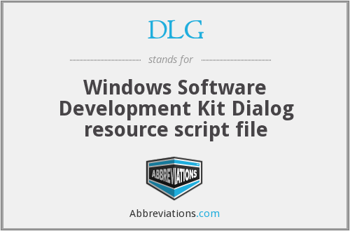 DLG - Windows Software Development Kit Dialog resource script file