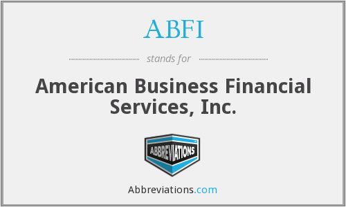ABFI - American Business Financial Services, Inc.