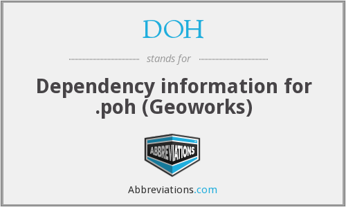 DOH - Dependency information for .poh (Geoworks)