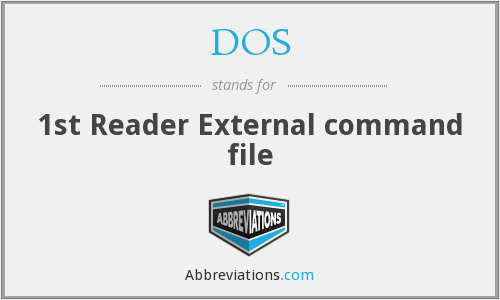 DOS - 1st Reader External command file