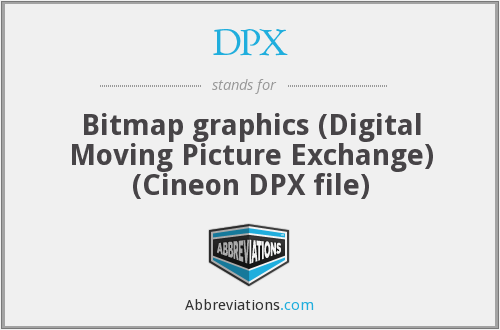 DPX - Bitmap graphics (Digital Moving Picture Exchange) (Cineon DPX file)