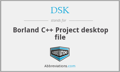 DSK - Borland C++ Project desktop file