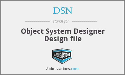 DSN - Object System Designer Design file