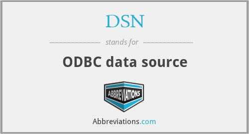 DSN - ODBC data source