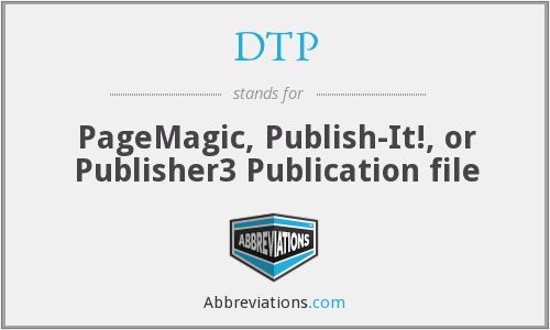 DTP - PageMagic, Publish-It!, or Publisher3 Publication file