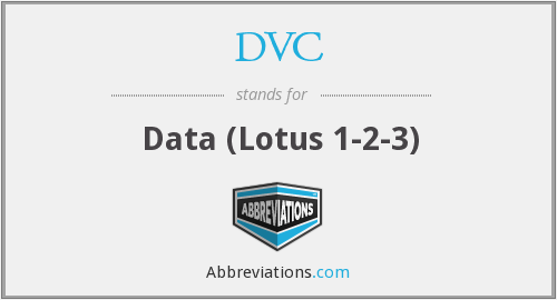 DVC - Data (Lotus 1-2-3)