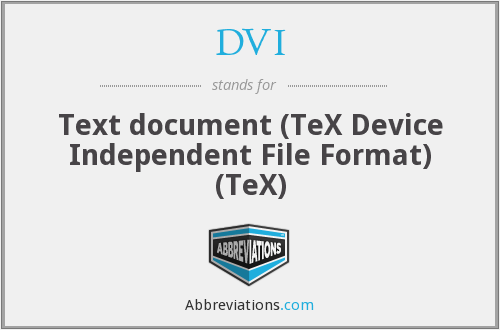 DVI - Text document (TeX Device Independent File Format) (TeX)