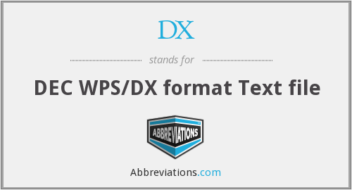 DX - DEC WPS/DX format Text file