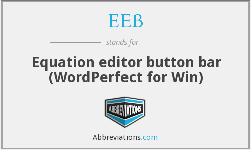 EEB - Equation editor button bar (WordPerfect for Win)