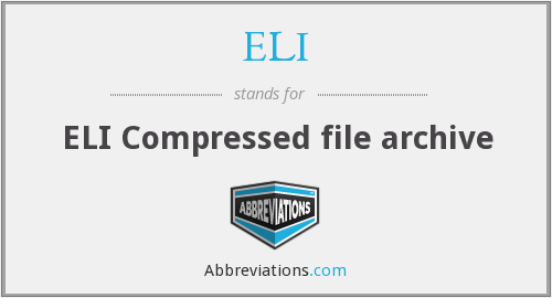 ELI - ELI Compressed file archive