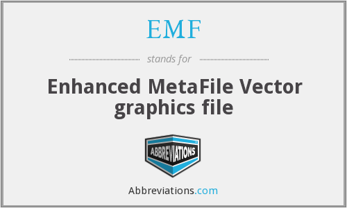 EMF - Enhanced MetaFile Vector graphics file